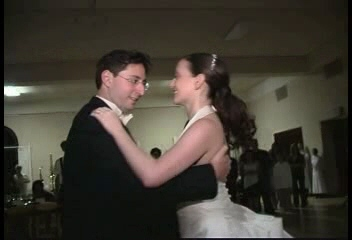 "right click and select ""save target as"" to download video of our first dance"